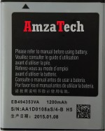 AmzaTech For Samsung Galaxy Wave 575 EB494353VA Battery