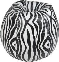 Rehal Large Bean Bag Cover (White, Black)