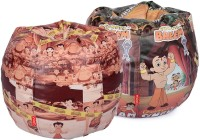 ORKA XXXL Chhota Bheem Set Of 2 - Digital Printed Bean Bag  Cover (Without Filling) (Multicolor)