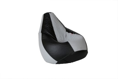 Cozy Bags NFXL6BLK&GRY Bean Bag With Beans Black, Grey Size   Large available at Flipkart for Rs.1549
