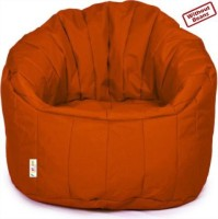 Fun ON XXXL Big Boss Chair Bean Bag Sofa  Cover (Without Filling) (Orange)