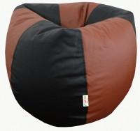 Fun ON STR102/ Black Tan Bean Bag Cover - Without Beans: Bean Bag