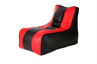 Cozy Bags BLNGRBLK&RD Lounger Bean Bag Without Beans Black, Red Size   Large available at Flipkart for Rs.1499