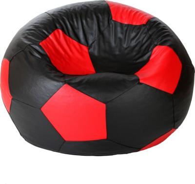 Cozy Bags NEFTBLXXLYLW&WHT Bean Bag Without Beans Black, Red Size   Large available at Flipkart for Rs.1199