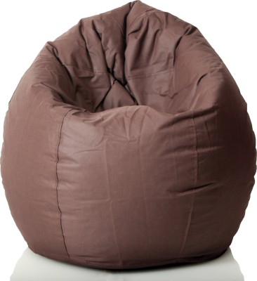 Cozy Bags NFXL6EXBR Bean Bag With Beans Brown Size   Large available at Flipkart for Rs.1349