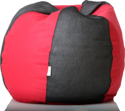 Cozy Bags NFXL6BLKNTRED Bean Bag With Beans Black, Red Size   Large available at Flipkart for Rs.1349