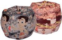 ORKA XL Chhota Bheem Set Of 2 - Digital Printed Bean Bag  With Bean Filling (Multicolor) - BEBEGE2BAQMEKMM3