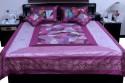 UFC Mart Jaipuri Magenta Silk With 4 Pillow Double Bed Cover - BCVEYZCJHSGG86GG