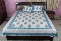 Rajcrafts Cotton Double Bed Cover White, Bed Cover, Two Pillow Cover - BCVE8AHXUH5VGKGH