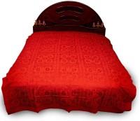 Manka Creation Cotton Double Bed Cover Orange