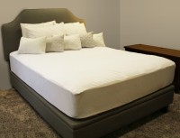 Sleepsafe Water Proof Cotton Queen Bed Cover White