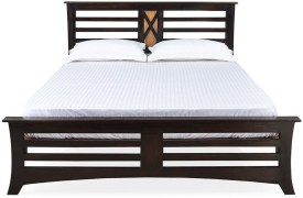 @home by Nilkamal Edge Solid Wood King Bed