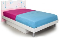 Alex Daisy Prism Engineered Wood Queen Bed With Storage (Finish Color -  Pink And White)
