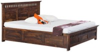 Smart Choice Furniture Smart Choice Rosewood (Sheesham) JIBD11 Matte Finish Solid Wood King Size Bed Solid Wood King Bed With Storage (Finish Color -  Walnut)