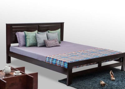 Durian DOM/58601 Solid Wood King Bed @ Rs.8999 And Get Extra 10% Off On Durian  Furniture (MRP : Rs.48000)