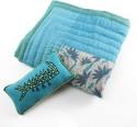 CherryTin Hues Of Blue Crib Bedding Set - Multicolor