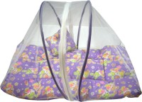 Muren Polycotton Bedding Set (Baby Bedding Set With Mosquito Net - Rabit-Purple)