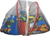 Muren Polycotton Bedding Set (Baby Bedding Set With Mosquito Net - Motu Patlu-Multicolor)
