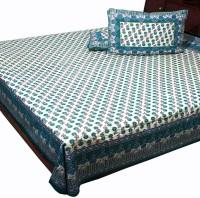 Pioneerpragati Cotton Bedding Set Green And Blue