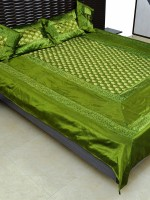 Ratash Cotton Silk Blend Bedding Set Green