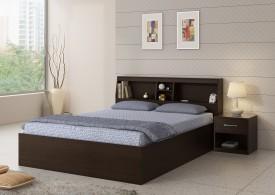 Spacewood Engineered Wood Bed + Side Table
