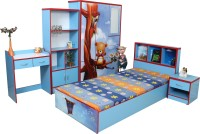 Stellar Engineered Wood Bed + Bedside Table + Wardrobe + Study Table + Book Shelf (Finish Color - Multicolor)