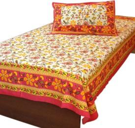 Mewar Handicrafts Cotton Embroidered Single Bedsheet