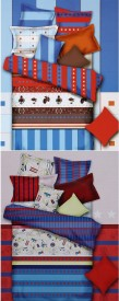 Home Basics Polycotton Printed Queen sized Double Bedsheet