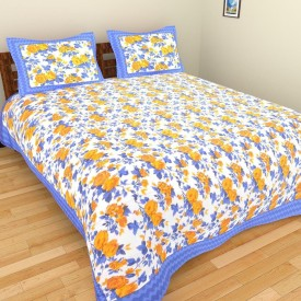 Bedsheet Point Cotton Printed Double Bedsheet