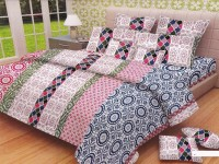 Lali Prints Cotton Printed King Sized Double Bedsheet 1 Double Super King Size Bedsheet And 2 Pillow Covers, Multi