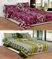Super India Cotton Printed Double Bedsheet Set Of 2 Bedsheet, 4 Pillow Covers, Multicolor
