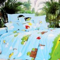 Valtellina Angry Bird Cartoon Printed Flat Single Bedsheet