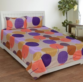 Trendz Home Furnishing Cotton Printed Double Bedsheet
