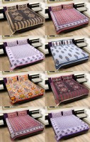 Rangasthali Cotton Animal Single Bedsheet 8 Bed Sheets With 16 Pillow Covers, Multicolor