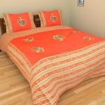 Vastra Design Vastra Design Cotton Printed Double Fitted Bedsheet