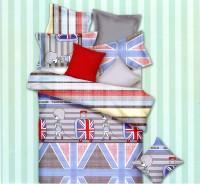 Home Originals Polycotton Printed Double Bedsheet 1 Double Bedsheet, 2 Pillow Covers, Multicolor
