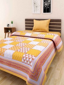JBC Collection Cotton Printed Single Bedsheet