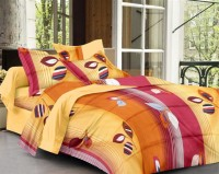 Story @ Home Cotton Printed Double Bedsheet 1 Bedsheet, 2 Pillow Cover, Yellow