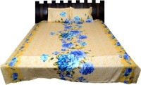 Nathi And Nancy Cotton Floral Double Bedsheet 1 Bed Sheet & 2 Pillow Covers, Multicolor - BDSEK7HXD3WPTG6Q