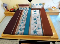 Hemlines Cotton Floral Double Bedsheet (1 Bedsheet, 2 Pillow Covers)