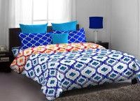 Stellar Home USA Polycotton Abstract Single Bedsheet (1 Bedsheet, 1 Pillow Cover, Multicolor)