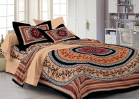 Story @ Home Cotton Printed Double Bedsheet 3, Peach