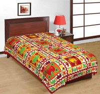 Fab Rajasthan Unique Arts Cotton Printed Single Bedsheet 1 Bedsheet, Multicolor - BDSE7UYQVUP6WGTZ