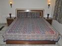 Lal Haveli Block Print Double Bed Flat Double Bedsheet - BDSDTYUDDYYKCGUV