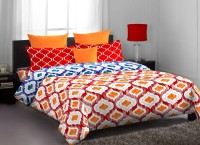 Stellar Home USA Polycotton Abstract Single Bedsheet 1 Bedsheet, 1 Pillow Cover, Multicolor