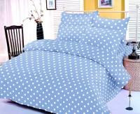 Mark Home Cotton Double Bedsheet (1 Bedsheet, 2 Pillow Covers, Blue)