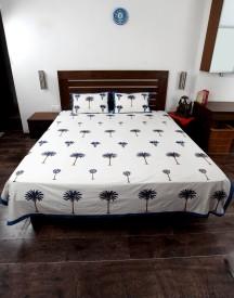 Jodhaa Cotton Floral Double Bedsheet