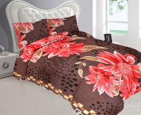 Metro Living Cotton Floral Double Bedsheet (Double Bed Sheet With 2 Pillow Covers)