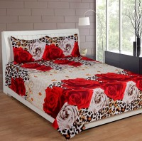 Royal 5d Premium Cotton Abstract Double Bedsheet 1 Bed Sheet, 2 Pillow Covers, Multicolor