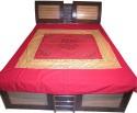 Shilimukh Embroidered Summer Flat Double Bedsheet - BDSDW53KQBSACKUG